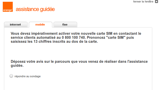 activer une carte sim orange activation SIM / forfait Let's Go   Communauté Orange