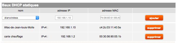 IP statique