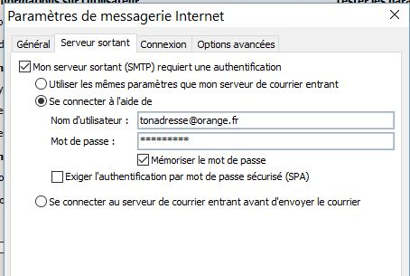 configurer mail orange avec fai free