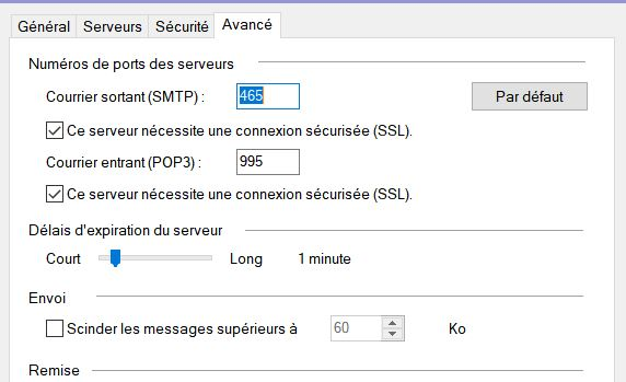 Re: Problème envoi de message via smtp orange fr p