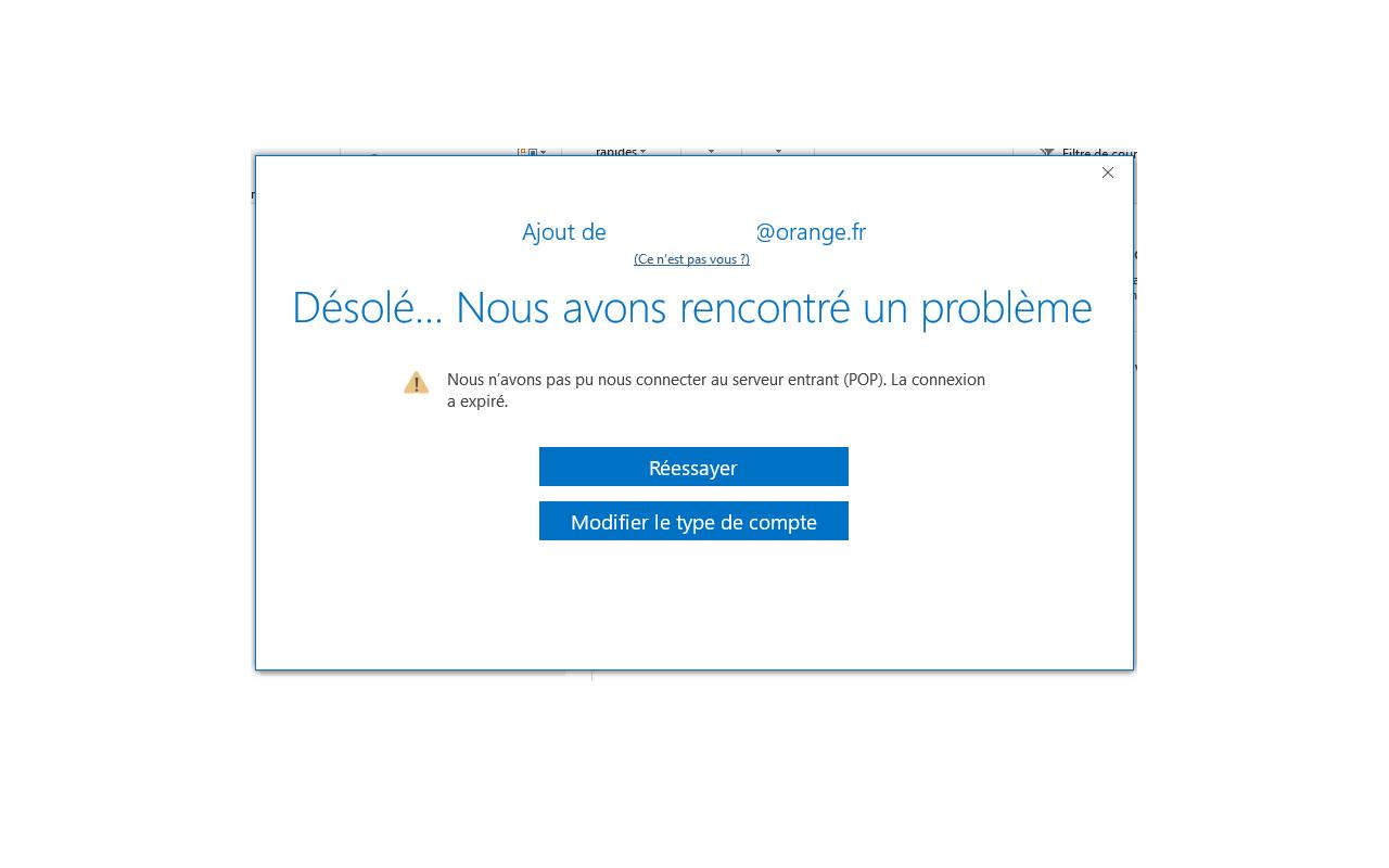 configuration boîte mail sur outlook 365 - Communauté Orange