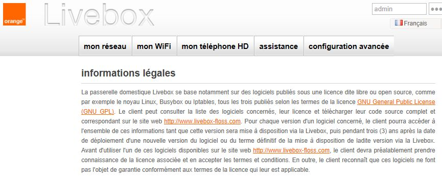 Livebox et GPL