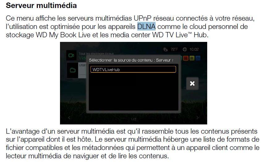 WD TV - Serveur multimedia