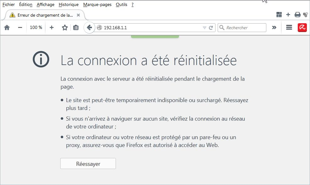 Admin Box - Firefox