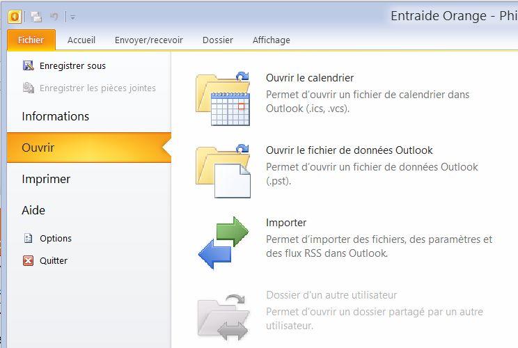 Messagerie orange outlook communaut orange for Orange mail messagerie internet illimite