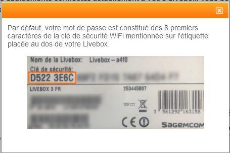 connaitre le mot de passe admin d 39 une livebox communaut orange. Black Bedroom Furniture Sets. Home Design Ideas