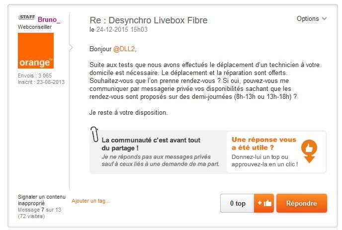desynchro livebox fibre page 2 communaut orange. Black Bedroom Furniture Sets. Home Design Ideas