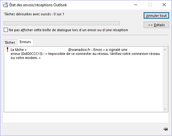 R Solu Re Envoi Avec Outlook 2016 Communaut Orange