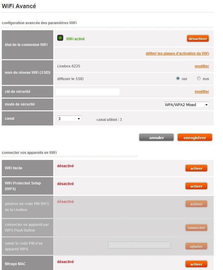 re probl me wifi acc s limit pas d 39 interne communaut orange. Black Bedroom Furniture Sets. Home Design Ideas