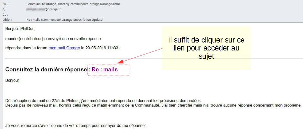 Mails Communaute Orange