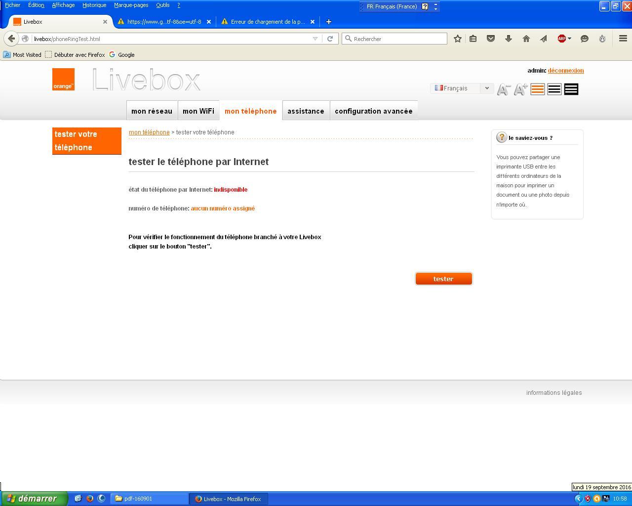 Impossible d émettre des appels depuis le fixe - Communauté Orange e3b1e62c6db