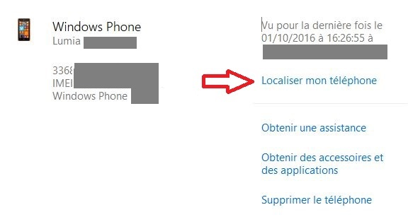 Localiser un iPhone perdu