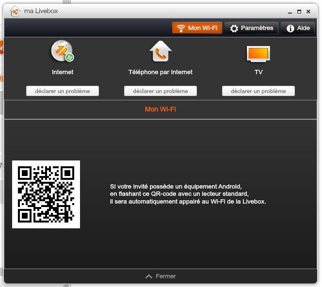 re cl wifi application ma livebox communaut orange. Black Bedroom Furniture Sets. Home Design Ideas