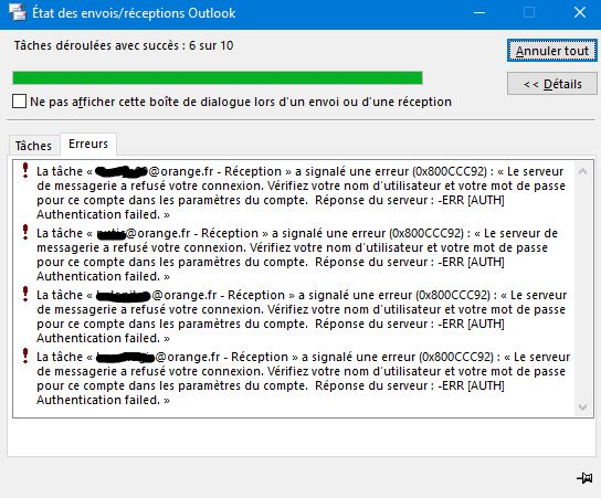 Erreur 0x800ccc92 Avec Outlook 2016 Page 2 Communaut