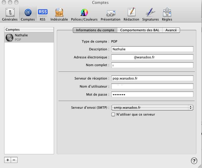 supprimer flux rss mail mac