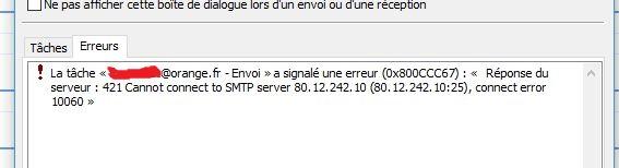 Résolu : erreur 421 cannot connect to smtp - Communauté Orange