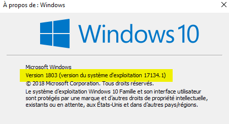 732c080c55690e Windows 10 1803 - Communauté Orange