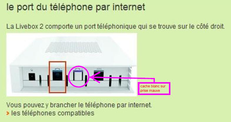 2 me prise t l phone de la livebox ne fonctionne p page 2 communaut orange - Branchement livebox telephone ...
